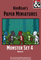 Monster Set 4 Kobolds - KooBear's Paper Miniatures