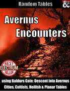 Avernus Encounter Tables - Table Rolls
