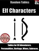 Elf Characters - Random Tables