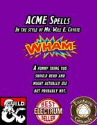 ACME Spells (Fantasy Grounds)