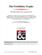 The Forbidden Trophy