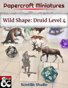 Papercraft Minis: Wild Shape, Level 4