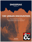 100 Urban Encounters