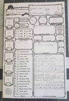 5e Booklet Character Sheet