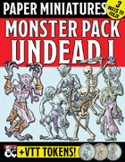 Paper Miniature Monster Pack: UNDEAD I!
