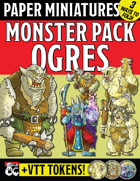 Paper Miniature Monster Pack: OGRES!