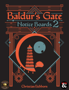 Baldur's Gate Notice Boards 2 | A Descent Into Avernus Supplement (Fantasy Grounds)