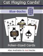 Cat Poker Cards (Blue Back)