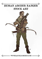 Human Archer Ranger Stock Art