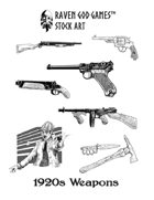 RGG Stock Art: 1920s Weapons