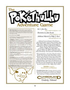 Pokéthulhu Adventure Game (3rd Edition)