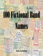 100 Fictional Band Names