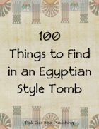 100 Things to Find in an Egyptian Style Tomb