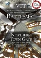 VTT Battlemap - Northern Town Gate