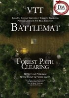 VTT Battlemap - Forest Path Clearing
