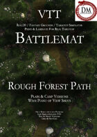 VTT Battlemap - Rough Forest Path