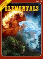 Fantasy Tokens Set 12: Elementals